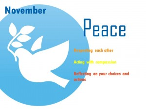 Value of the Month for November-Peace